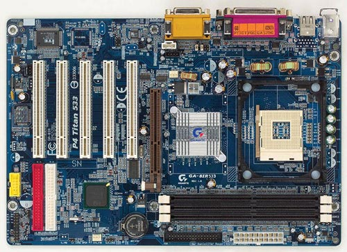 Плата gigabyte ga-8ir533 s478/intel pentium 4 18 ghz/ddr 512mb (256x2)/agp gf4 mx440 64mb
